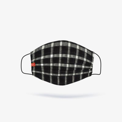 Black & White Check Fashion Mask