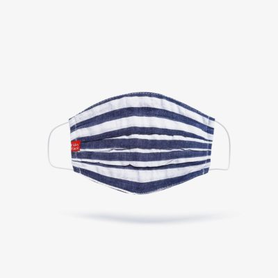 Elegant Nautical Navy Stripes Fashion Mask