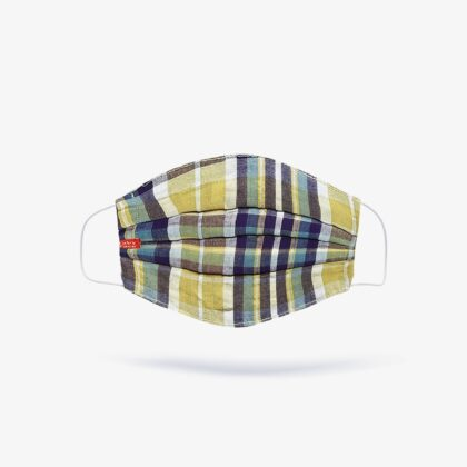 FabyFace Double-Layered Madras Plaid Check Face Mask