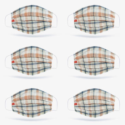 6 Pack | Plaid Check Face Mask